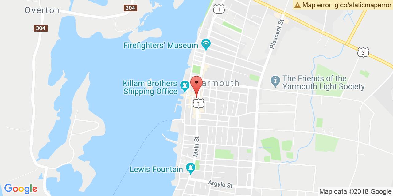 Map to: Yarmouth, Latitude: 43.835960 Longitude: -66.120264
