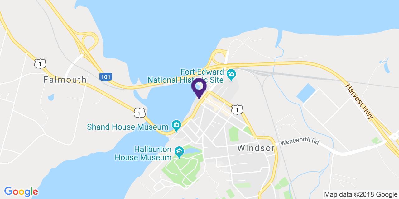 Map to: Windsor, Latitude: 44.995050 Longitude: -64.139598