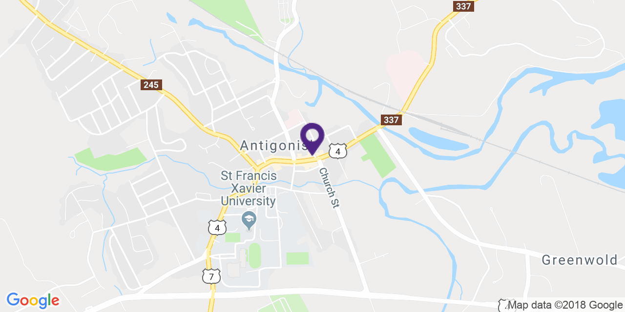 Map to: Antigonish, Latitude: 45.622813 Longitude: -61.989848