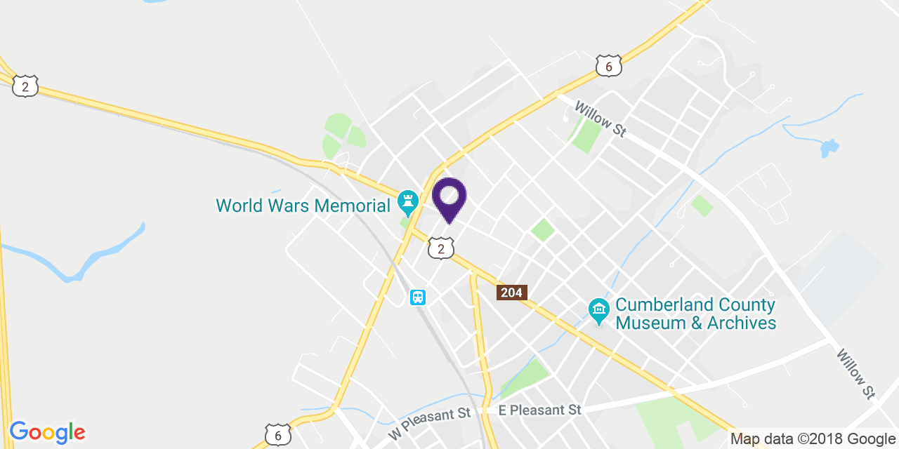 Carte à: Amherst, Latitude: 45.833557 Logitude: -64.210628