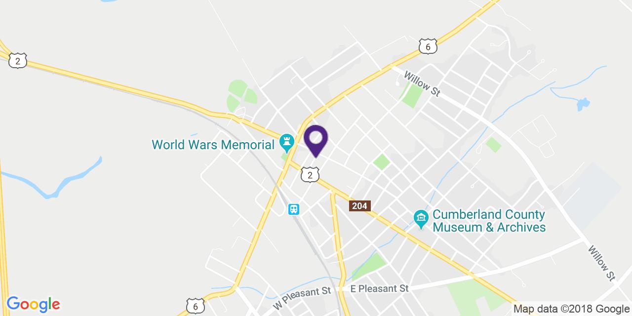 Map to: Amherst, Latitude: 45.833557 Longitude: -64.210628
