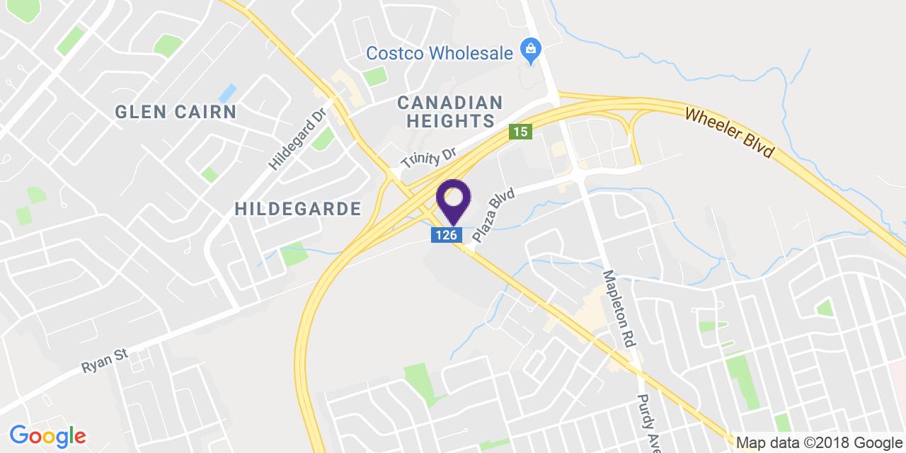 Carte à: Moncton, Latitude: 46.111832 Logitude: -64.833126
