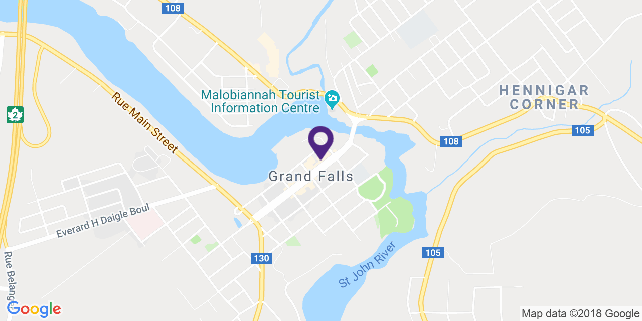 Map to: Grand Falls, Latitude: 47.048899 Longitude: -67.739024