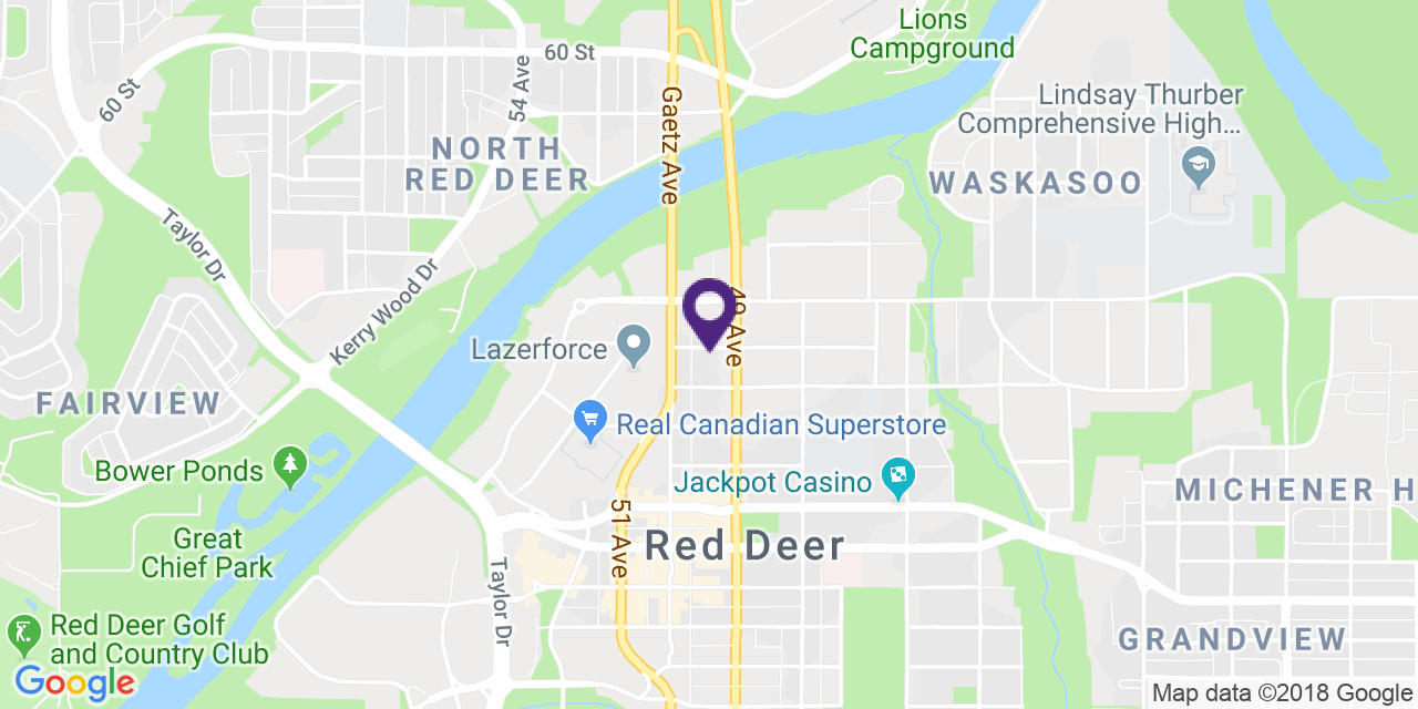 Map to: Red Deer, Latitude: 52.272643 Longitude: -113.812569
