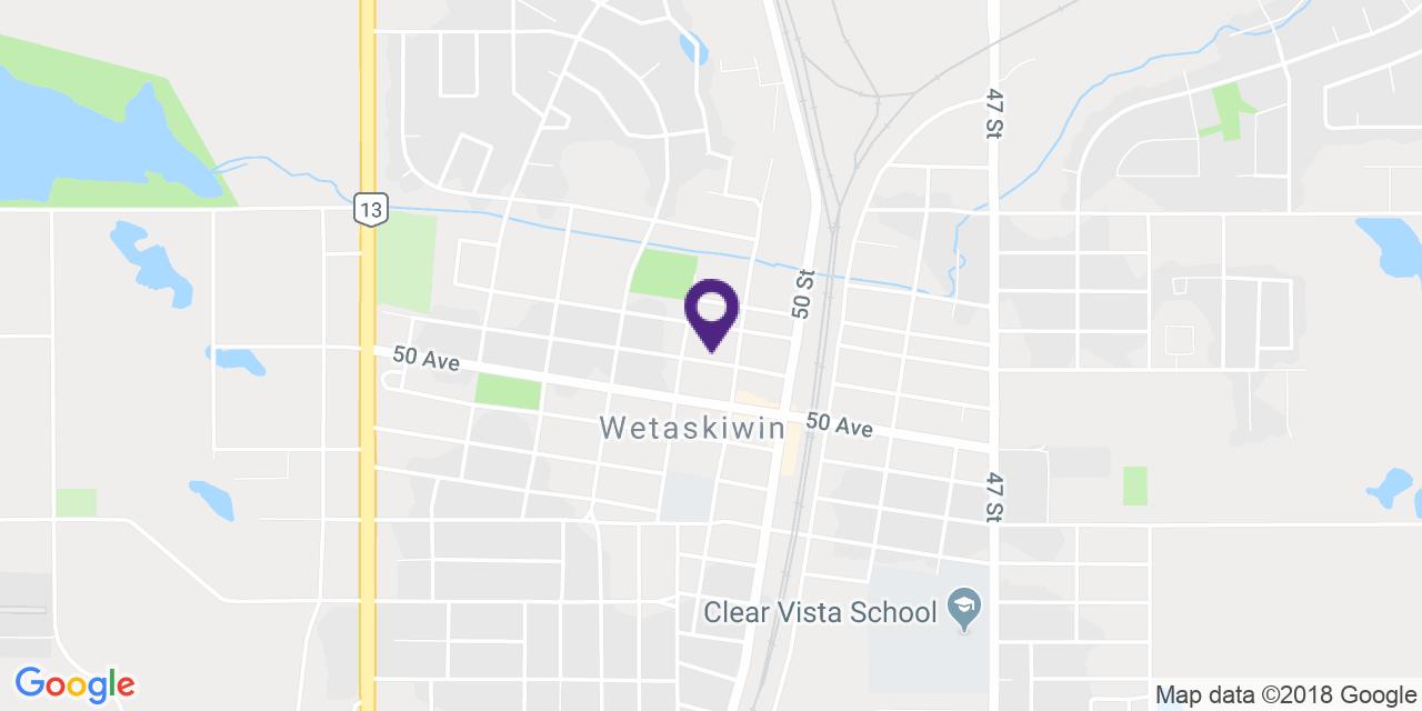 Map to: Wetaskiwin, Latitude: 52.970999 Longitude: -113.376896