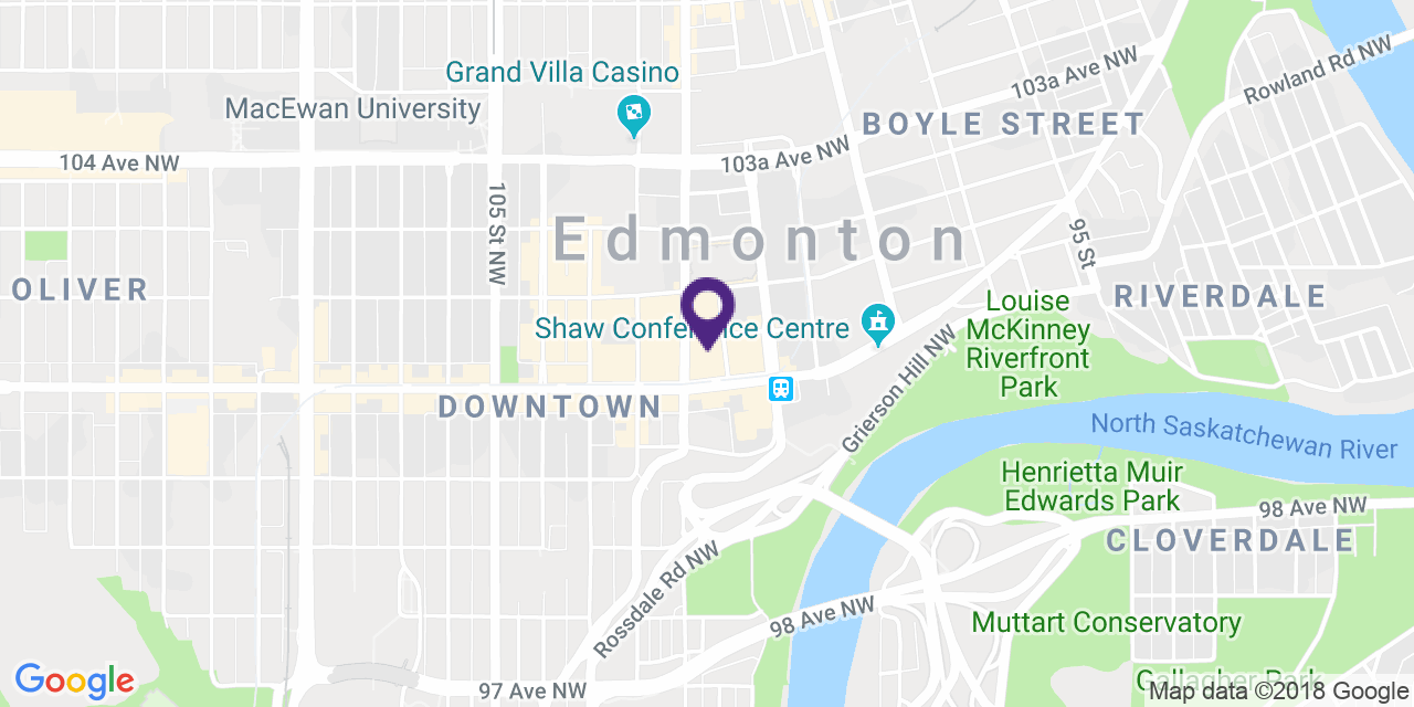Map to: Downtown Edmonton, Latitude: 53.541751 Longitude: -113.492852