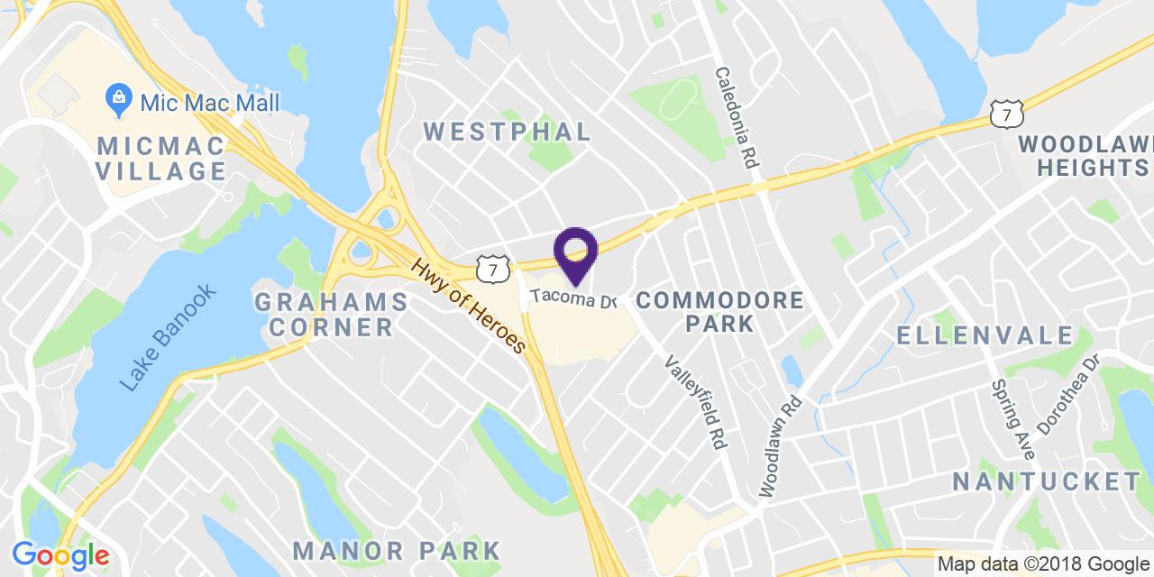 Carte à: Dartmouth, Latitude: 44.681047 Logitude: -63.538097