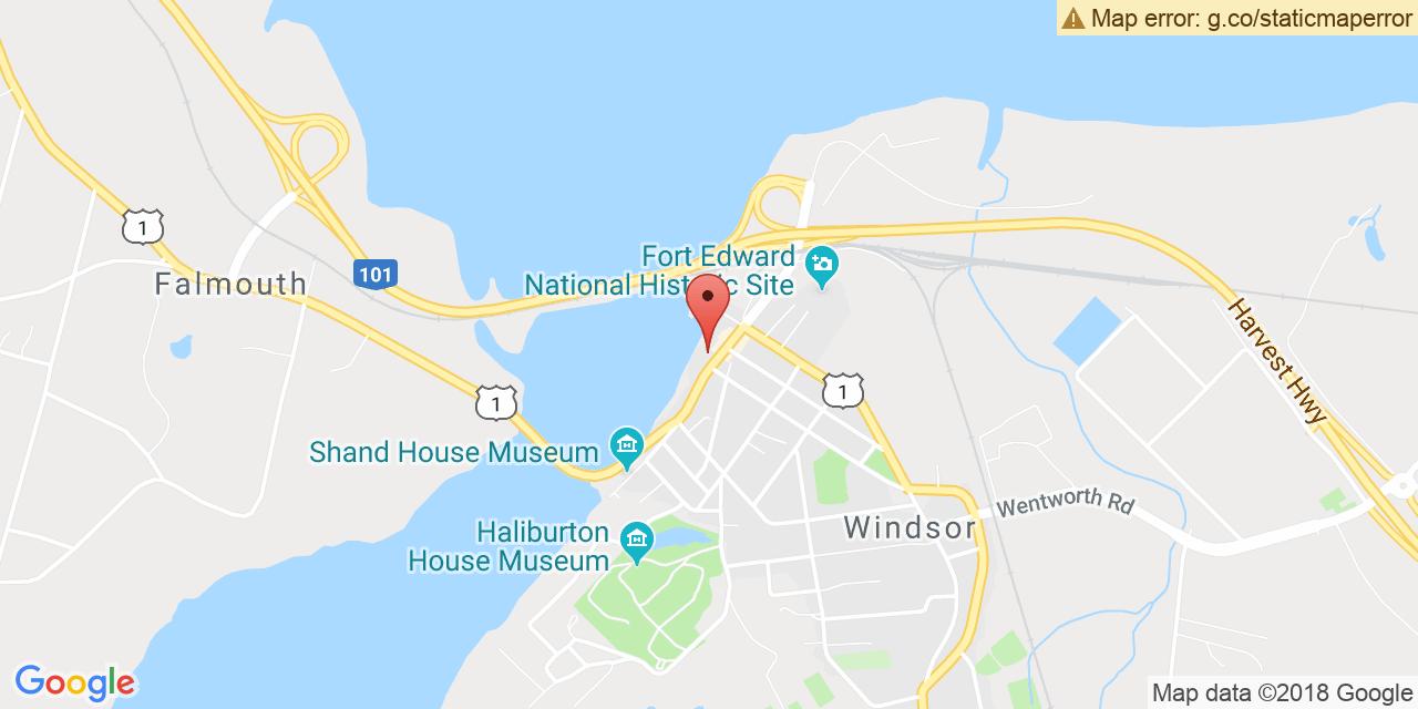 Carte à: Windsor, Latitude: 44.995050 Logitude: -64.139598