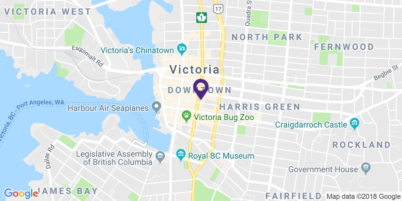 Carte à: Victoria, Latitude: 48.425640 Logitude: -123.36471