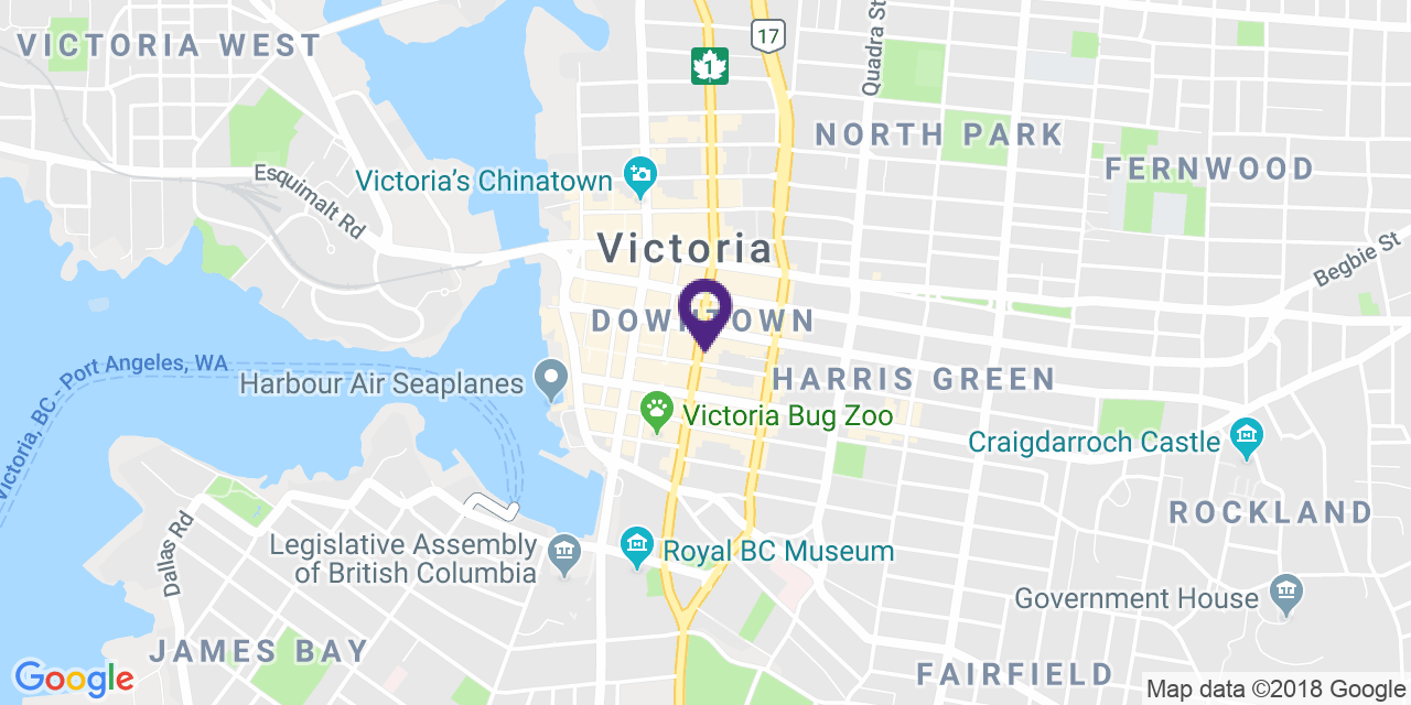 Map to: Victoria, Latitude: 48.425707 Longitude: -123.364787