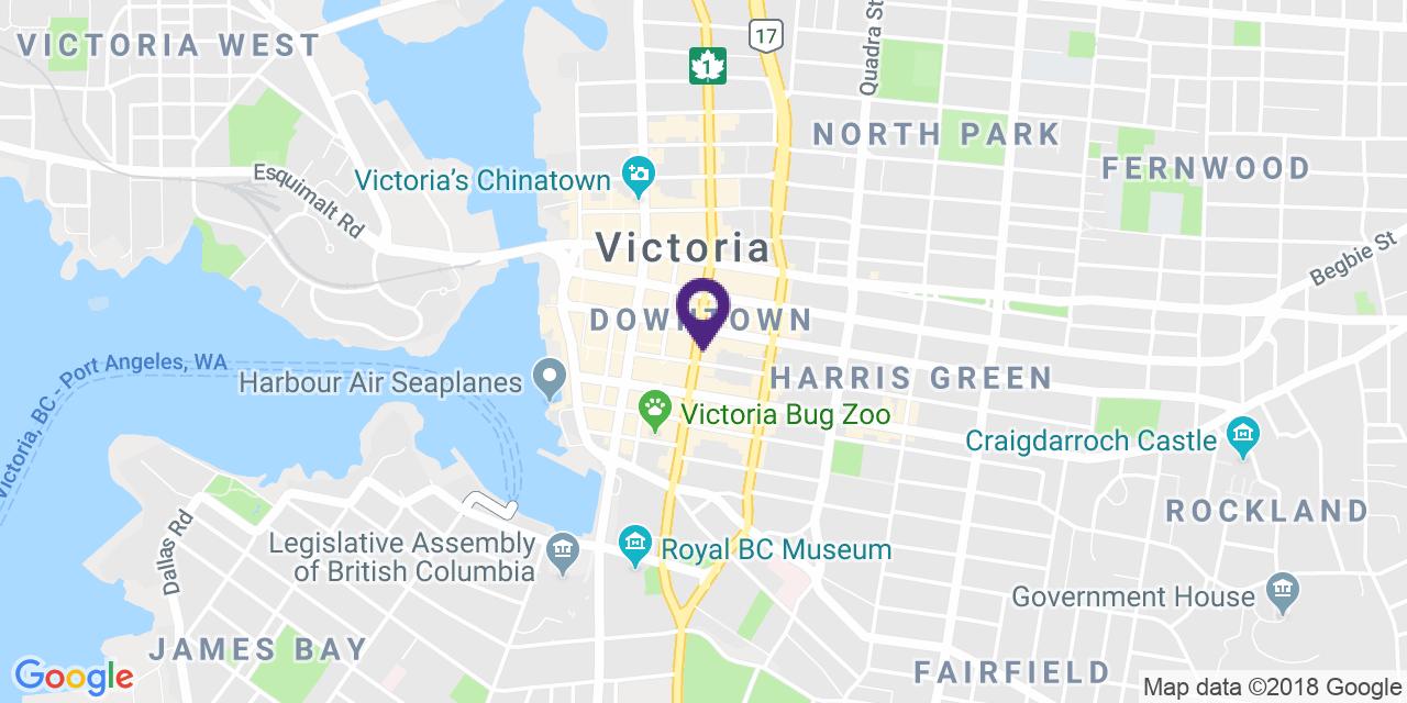 Map to: Victoria, Latitude: 48.425707 Longitude: -123.364787
