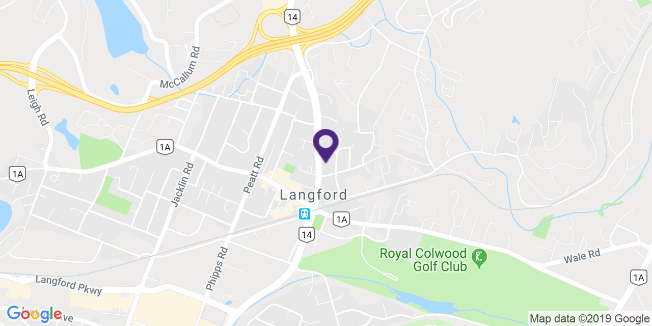 Map to: Langford, Latitude: 48.449960 Longitude: -123.49457