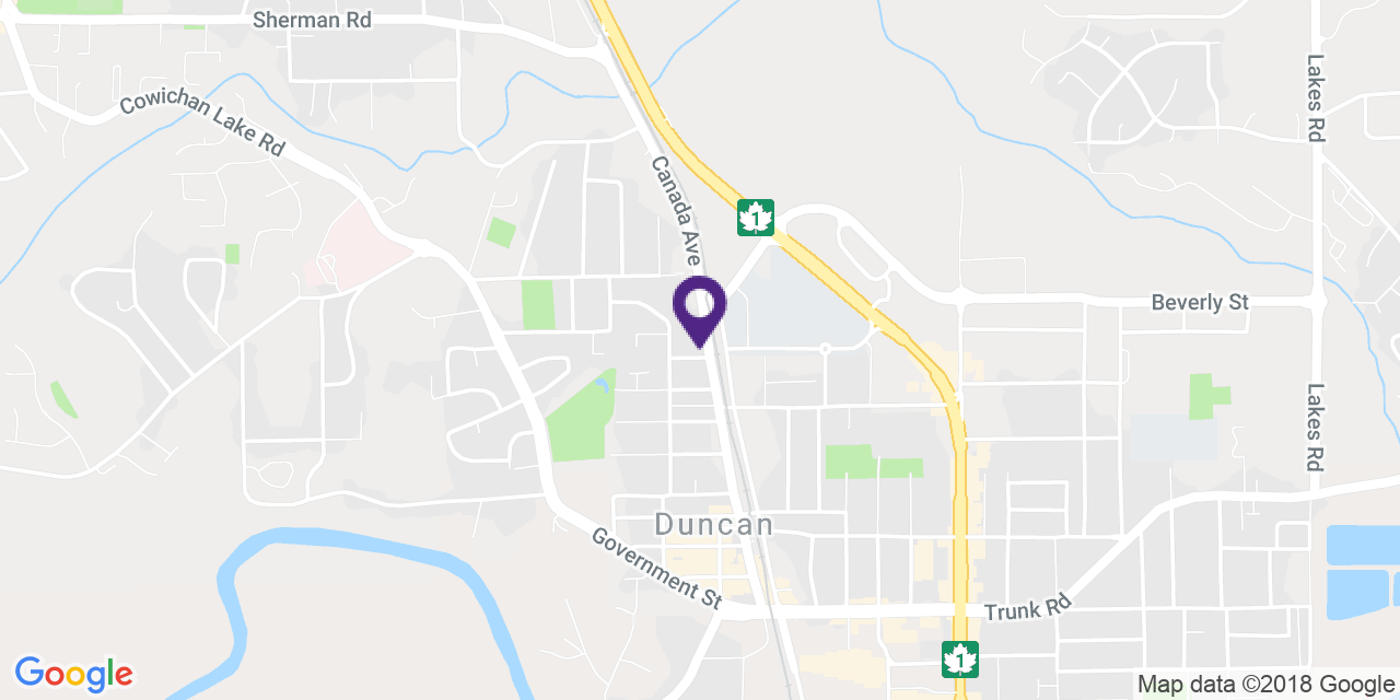 Map to: Duncan, Latitude: 48.783566 Longitude: -123.709068