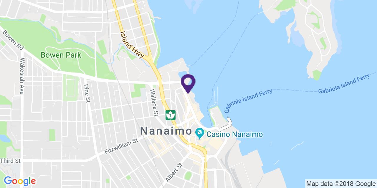 Map to: Nanaimo, Latitude: 49.169125 Longitude: -123.936802