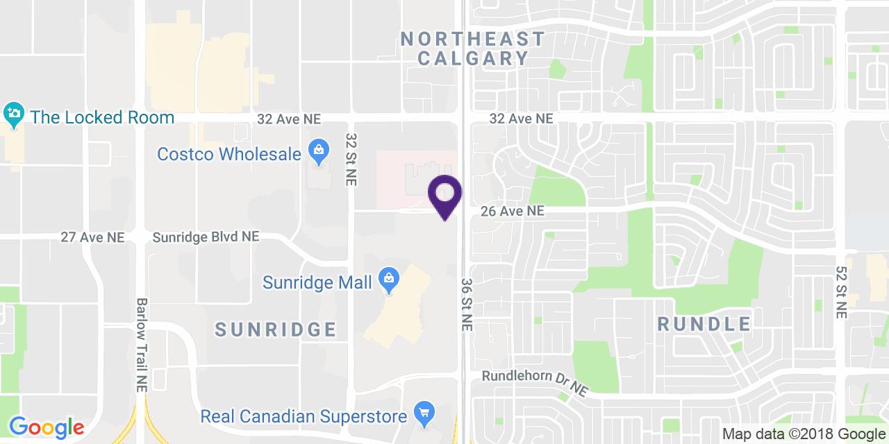 Carte à: Calgary, Nord-Est, Latitude: 51.077438 Logitude: -113.982865