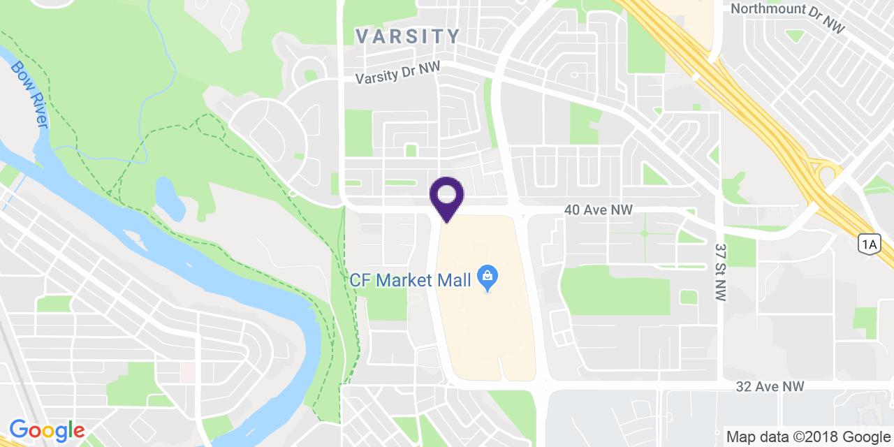 Carte à: Calgary, Nord-Ouest, Latitude: 51.087712 Logitude: -114.157994