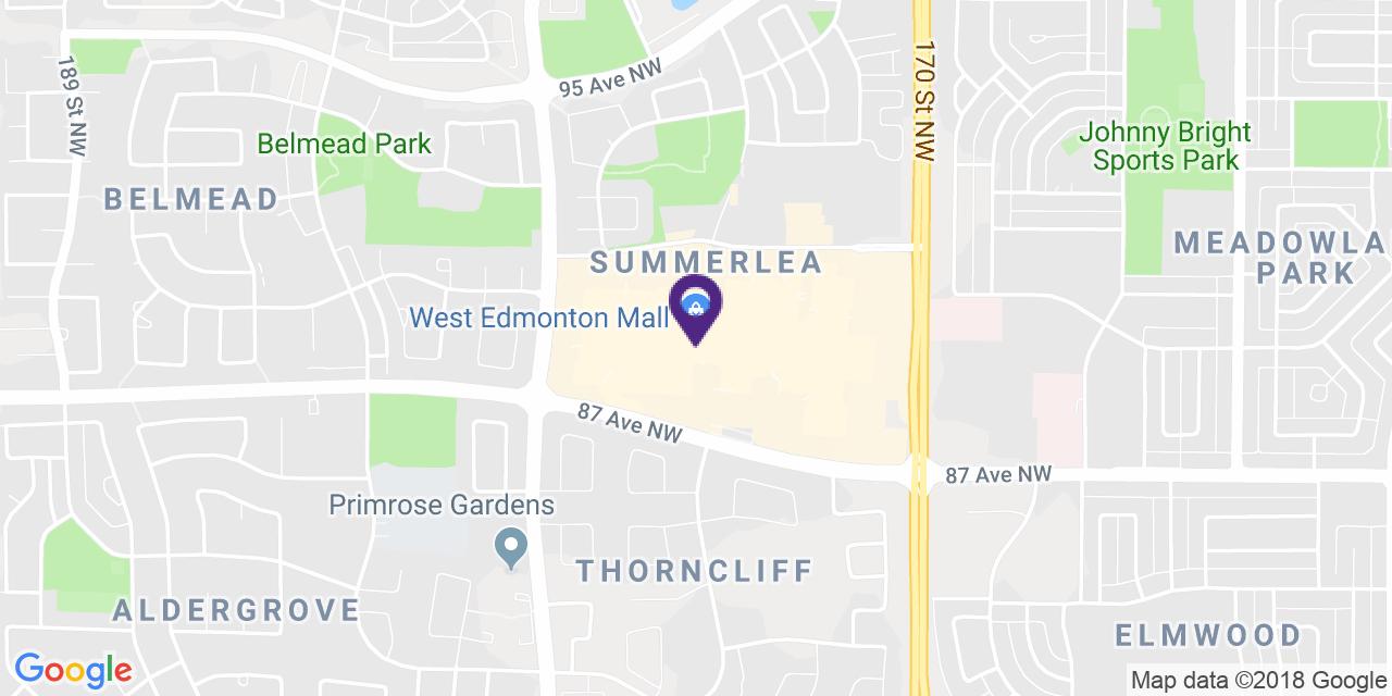 Carte à: Edmonton, Ouest, Latitude: 53.522515 Logitude: -113.624191
