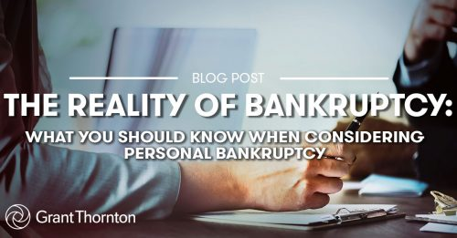 Personal Bankruptcy - Grant Thornton Limited