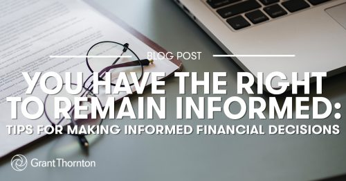 Making Informed Financial Decisions, Grant Thornton Limited