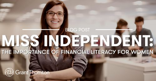 The Importance of Financial Literacy for Women. Grant Thornton Limited