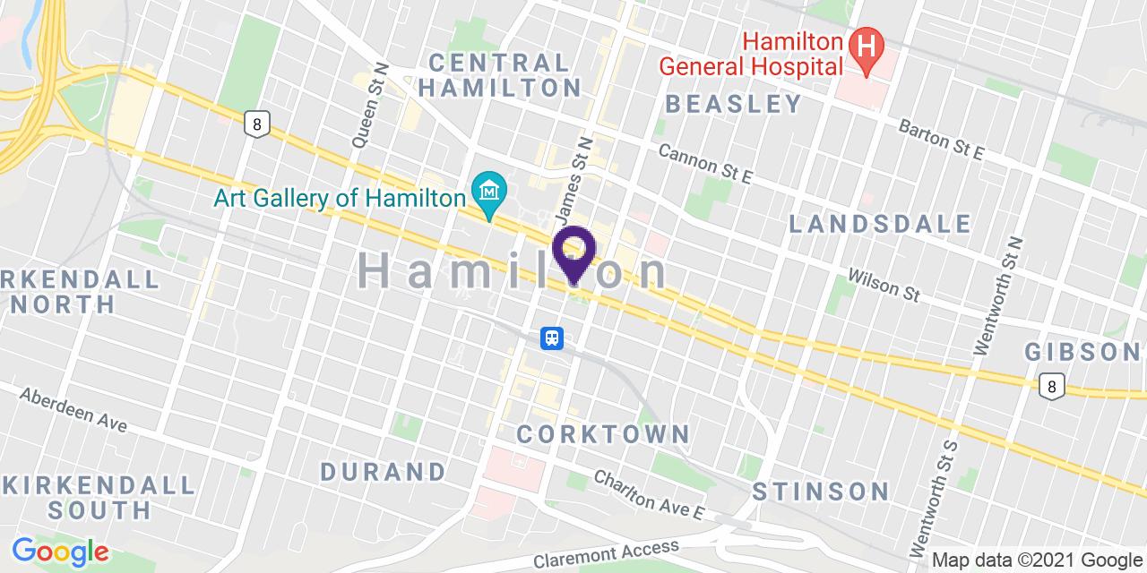 Map to: Hamilton, Latitude: 43.255150 Longitude: -79.86808