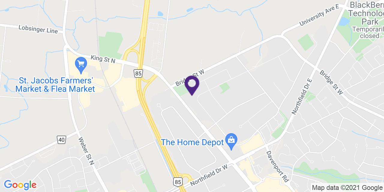 Map to: Waterloo, Latitude: 43.508600 Longitude: -80.53913