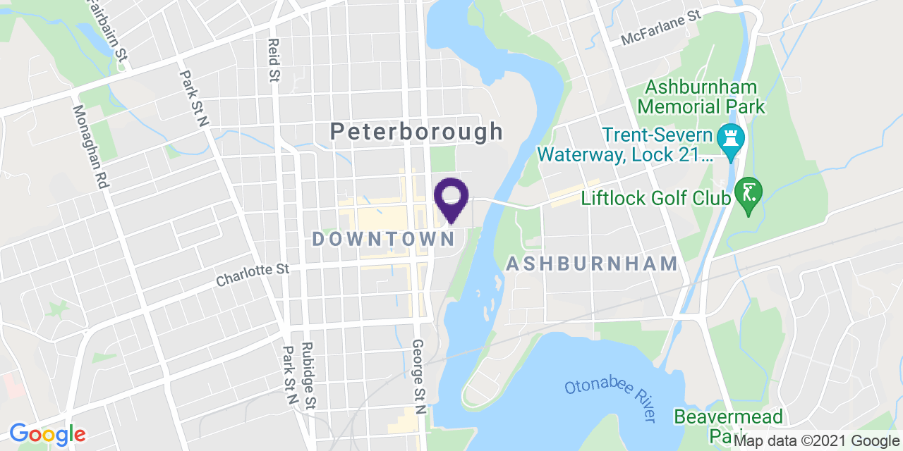 Map to: Peterborough, Latitude: 44.304939 Longitude: -78.317574